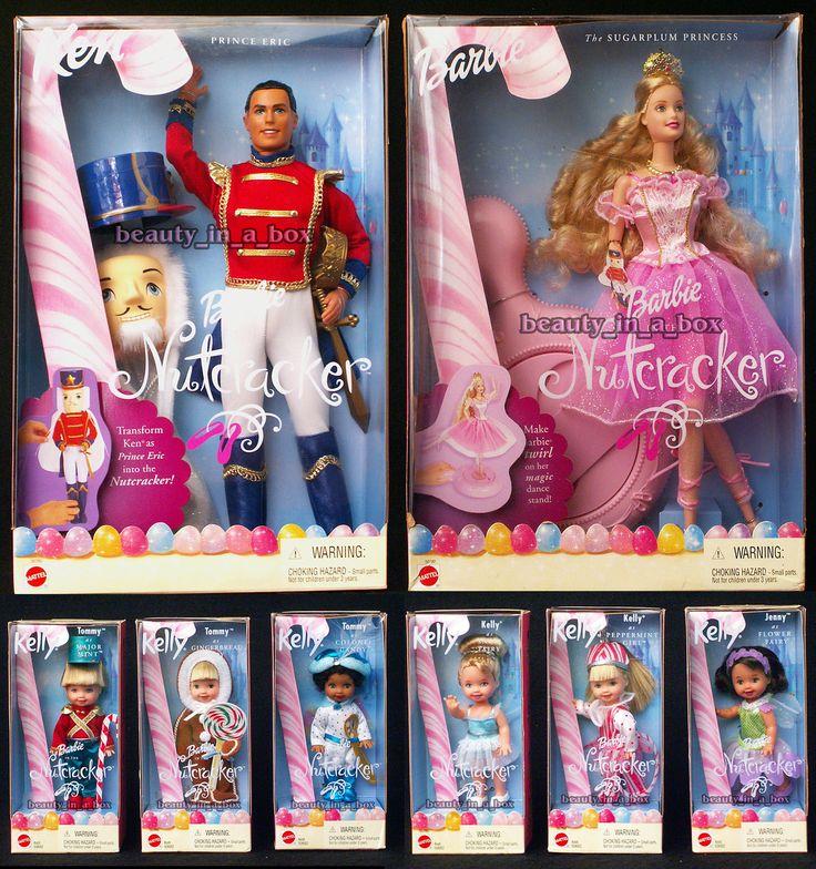 Sugarplum Princess Barbie Prince Eric Ken Kelly Ballerina Nutcracker Ballet Doll   eBay