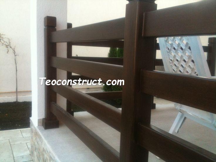 Balustrade din lemn pentru exterior  06