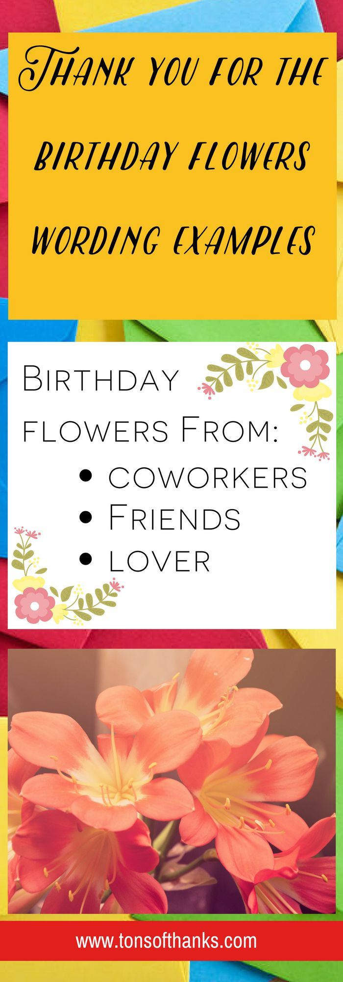 2090 best write 31 days images on pinterest parenting teacher thank you for the birthday flowers wording examples thank whoever gave your birthday flowers with kristyandbryce Choice Image
