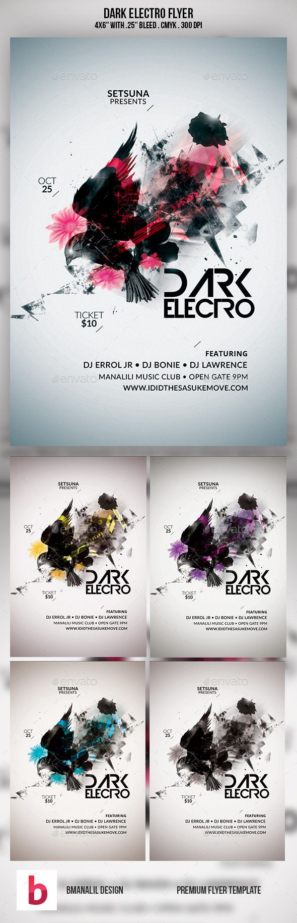 The 1615 best Abstract Flyer Templates images on Pinterest | Event ...