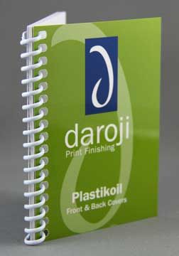Koil Binding in white. A robust option for frequent use. Wide range of colours available! Visit www.daroji.com.au for more information and options.