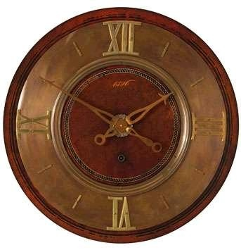 "Unique decorative wall clock has brass accents.  Uttermost Timeworks series 1896 30"" Wall Clock."