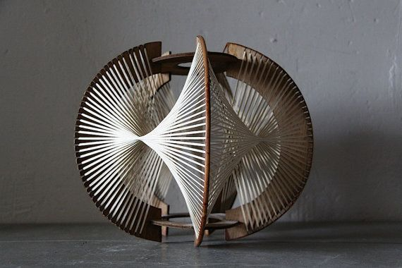 Fun French Vintage 1970s String Art Ceiling Light Shade Spirogyra on Etsy, $74.93 AUD