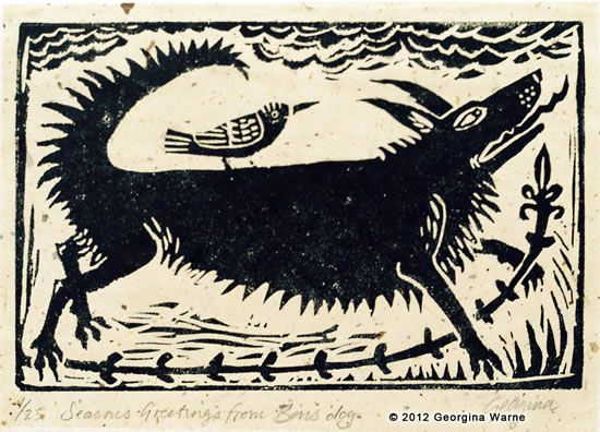 'Black Shuck and Friend' by Georgina Warne