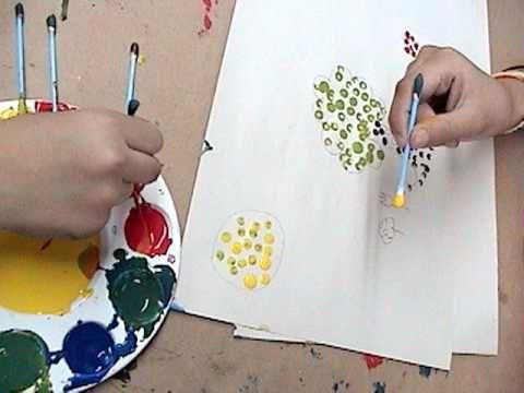 """""""ETAPA PREESQUEMÁTICA""""  Edad: 4- 7 años El nombre de la actividad es : """"El Punto"""" , a través de la secuencia de puntos el niño formará y tendrá un creación consciente de la forma( de acuerdo a los tamaños reales),comienzo de la comunicación gráfica ( su dibujo trasmitirá un mensaje)."""