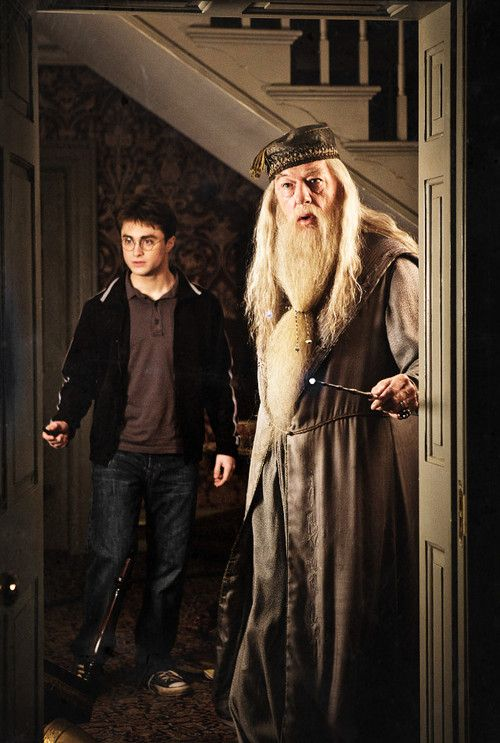Harry and Dumbledore - Daniel Radcliffe and Michael Gambon in Harry Potter and the Half-Blood Prince.