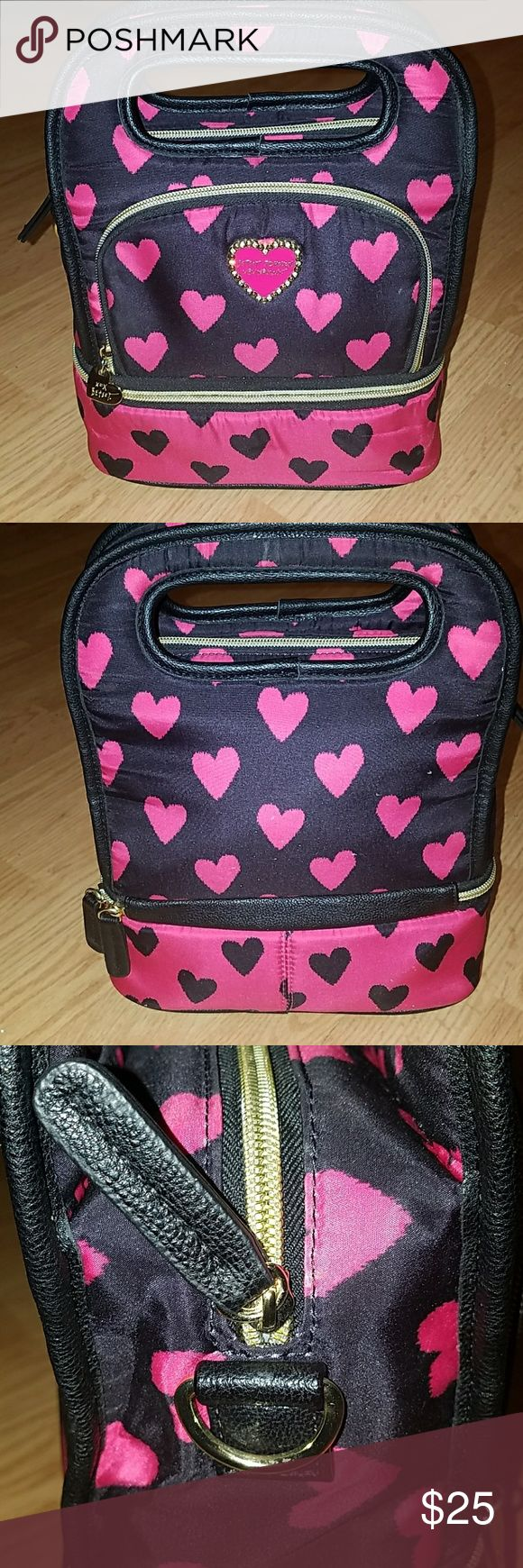 Betsy Johnson Lunchbox Betsy Johnson Lunch Box with top and bottom zippered compartments and one in front Betsey Johnson Accessories