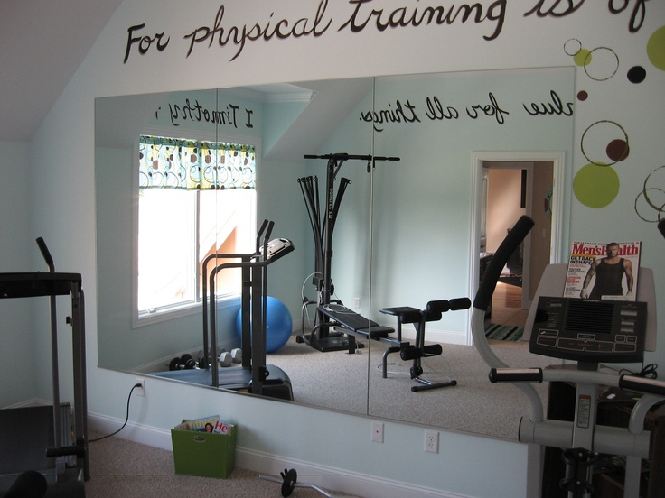 flat mirrors in workout room home gym pinterest