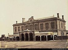 The Adelaide Railway Station. The first railway station opened on North Terrace in 1856. It served broad gauge between Adelaide and Port Adelaide.  It was the first government owned and operated railway in the British Empire