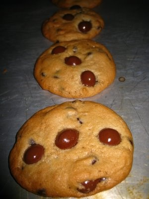 Haha! She just added choc covered espresso beans to premade cookie dough. Duh! Best baking discovery of my life: Chocolate Covered Espresso Bean Chocolate Chip Cookies.
