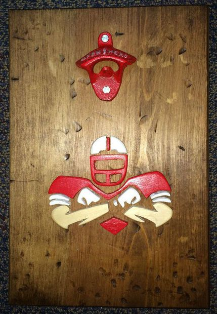 Man Cave Bottle Opener Scroll Saw Projects Man Cave