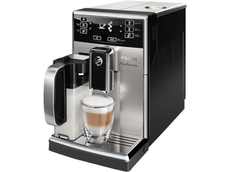 SAECO HD8927/01 PicoBaristo Kaffeevollautomat Silber/Schwarz (Keramik, 1.8 Liter Wassertank)