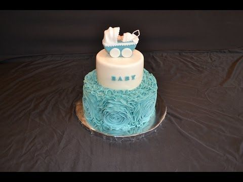How to decorate a cake with fondant rosets or ribbon roses,rosette cake tutorial - YouTube