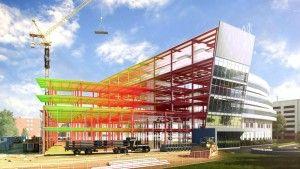 Simulation 3D d'un bâtiment construit à l'aide du BIM