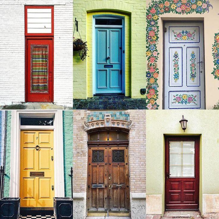 Doors by:  R1C1: @juaneles R1C2: @marcia__vale R2C1: @doorsoftheglobe R2C2: @grainesdecocotte R3C1: @maako.b R3C2: @nalkhlaifi  Congratulations!  Tag #windowsanddoorsoftheworld to be featured!