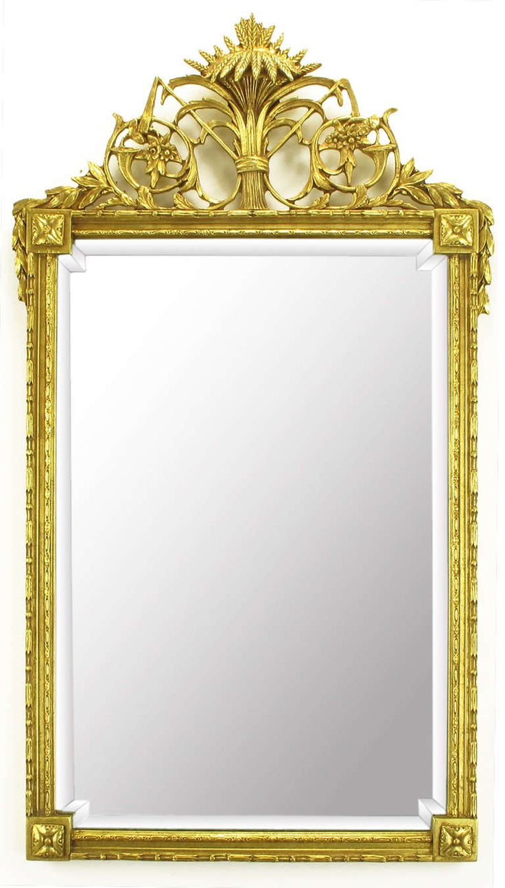 Williams sonoma home five panel beveled mirror - Pair Gilt Wood Gesso Louis Xvi Style Beveled Mirrors From A Unique Collection Of