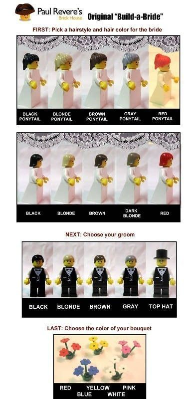 Haha too funny, may have to incorporate this one day... $16.99 personalized lego wedding cake topper