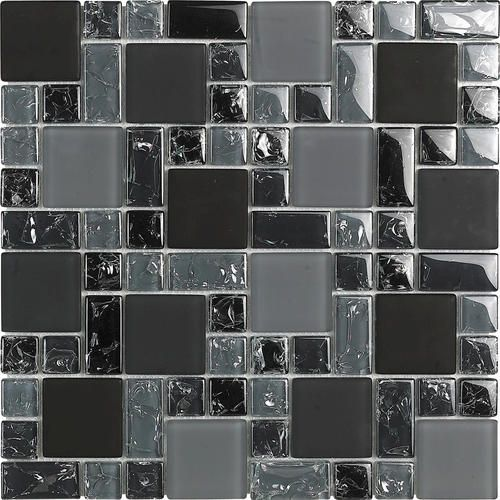 New No Ka Oi Glass Random Mosaic Wall Tile At Menards