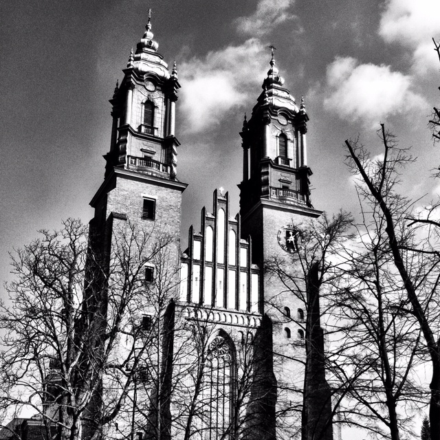 Poznan Poland, Katedra, fasada frontowa