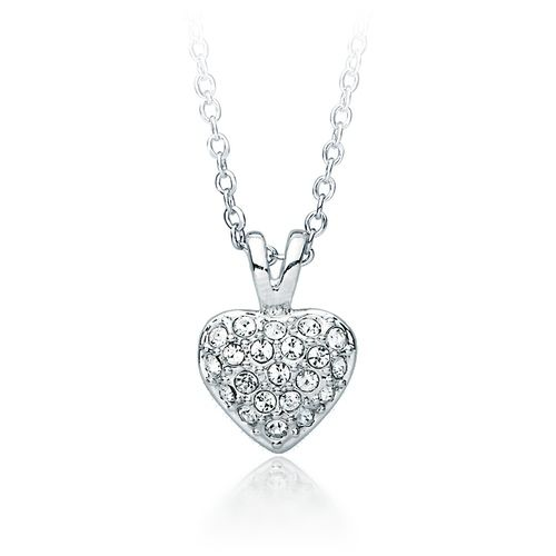 Pave Heart Pendant with Swarovski® Crystals