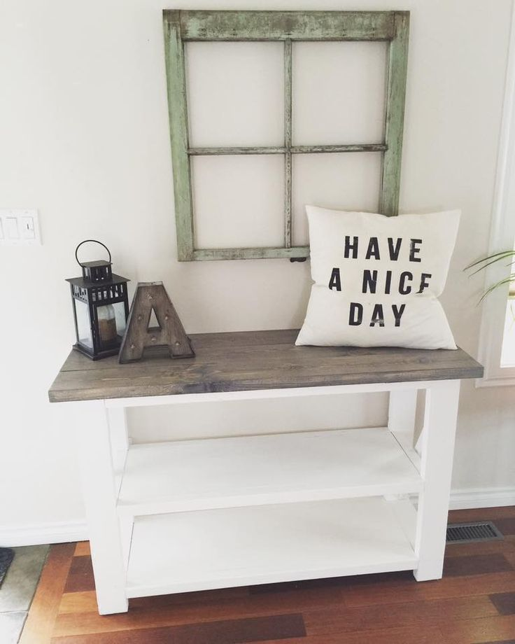Rustic Home Decor | Ana White | DIY | Shanty 2 Chic | Rustic | Shabby Chic | Consoel Table | Living Room | Reclaimed Wood | Salvaged Wood | Living Room Ideas | End Tables | Industrial Decor | Entry Way