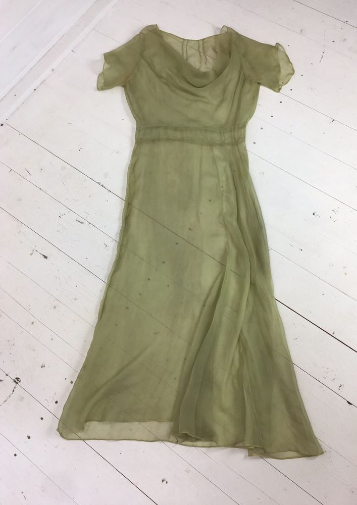 Vintage 1920s Chiffon Dress
