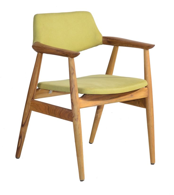 William Dining Chair. Classic scandinavian style dining chair with green upholstery.