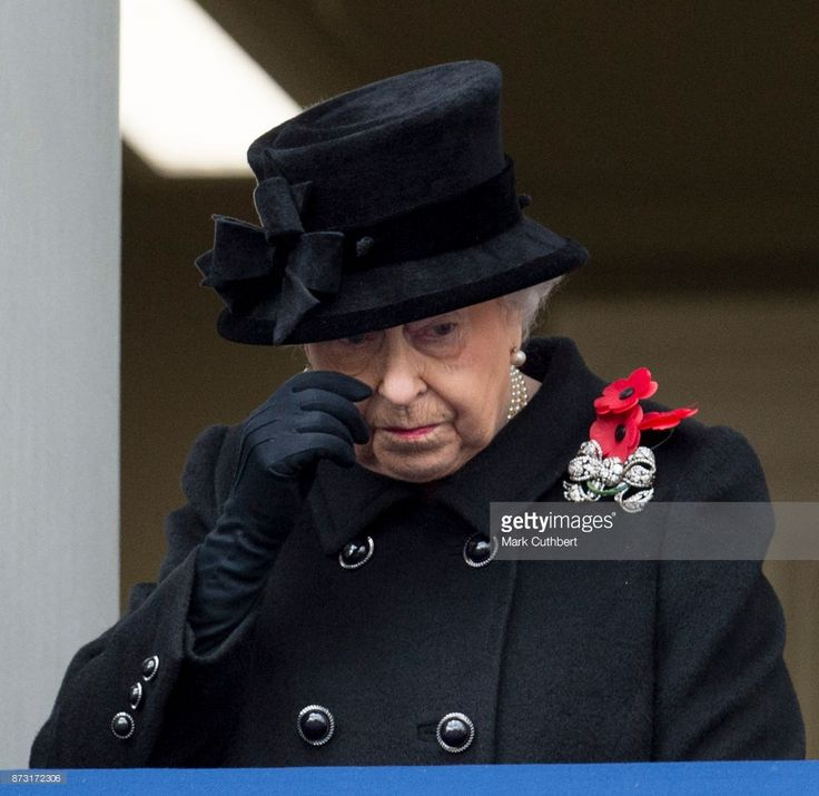 Queen Elizabeth II during the annual Remembrance Sunday memorial on November 12, 2017 in London, England.  The Prince of Wales, senior politicians, including the British Prime Minister and representatives from the armed forces pay tribute to those who have suffered or died at war.  (Photo by Mark Cuthbert/UK Press via Getty Images)