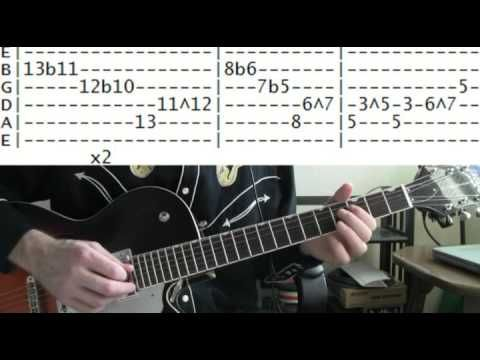 guitar lesson Bill Doggett honky tonk tab from Blue Velvet