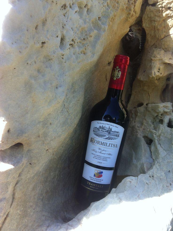 A rare sighting #Kormilitsa #red #wine #Tsantali #MtAthos