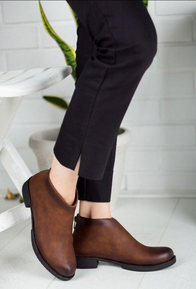 Elata Taba Tasarim Bayan Bot In 2020 Boots Chelsea Boots Shoes