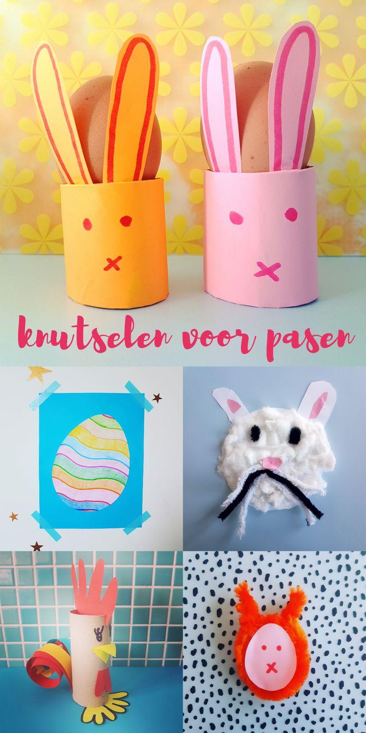 Knutselen voor Pasen: de leukste ideeën. Easter crafting bunny. Artisanat de Paques. Ostern handwerk #leukmetkids