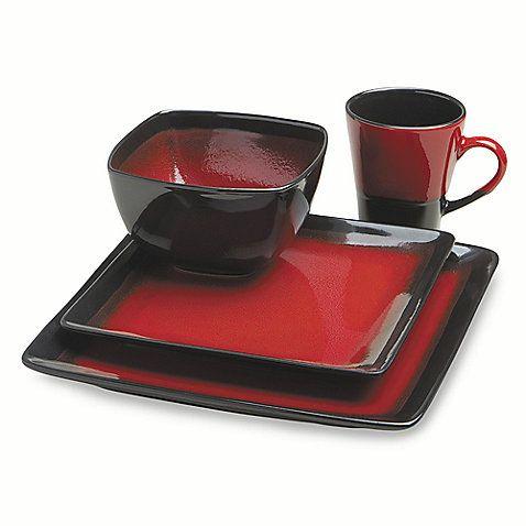 Black And Red Dinnerware Soiree Dinnerware Sets Relish Decor