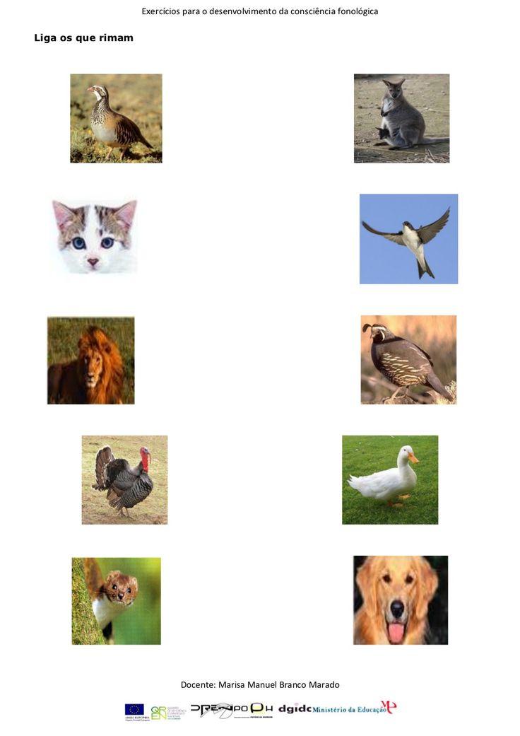 Exercícios de consciência fonológica 1 by Fmbmrd via slideshare