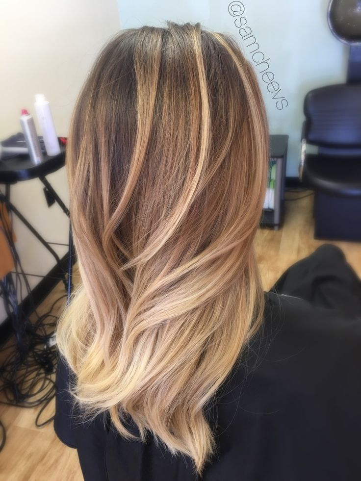 Natural Golden Honey Blonde Platinum Balayage Highlights