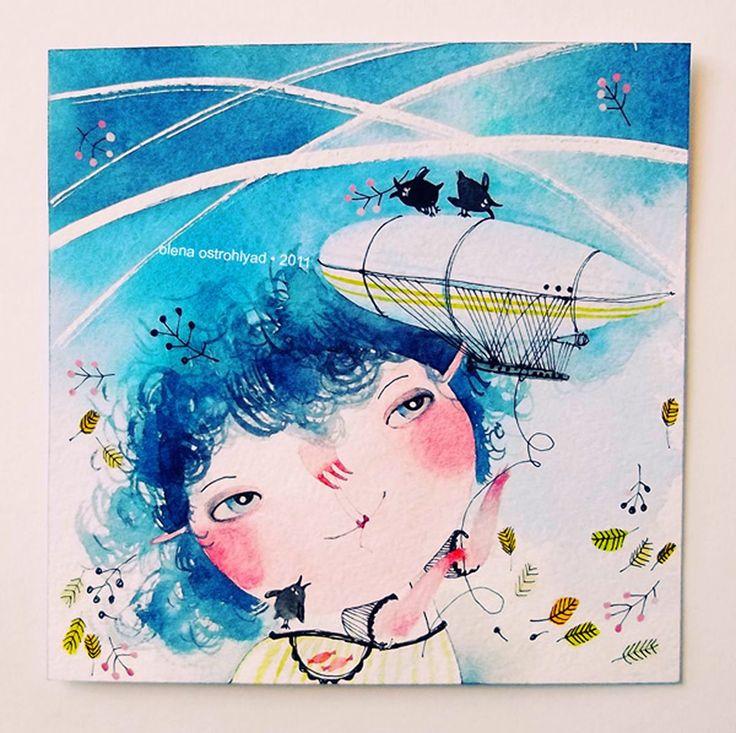 Olena Ostrohlyad's online portfolio; a artist and illustrator from Poltava, Ukraine.