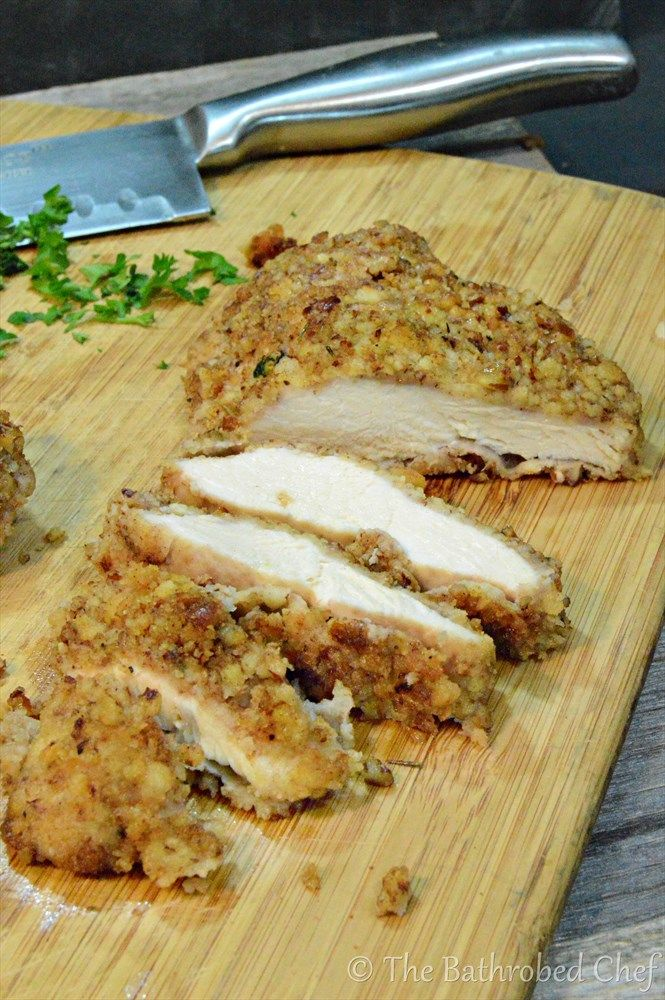 Pecan Crusted Chicken (Best Ever) Tender chicken breast coated with perfectly seasoned crispy pecans, then pan seared and baked.  Chicken does not get any better than this!