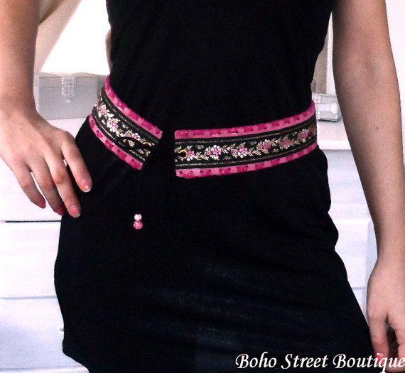 Corset Belt Bohemian Belt Leather tie belt by BohoStreetBoutique