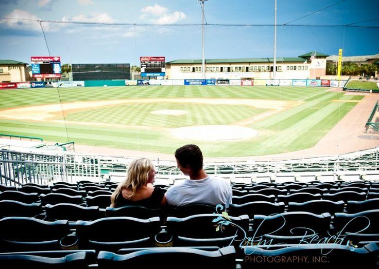 Tina + Eric   Baseball Engagement Photography » Palm Beach Photography, Inc.