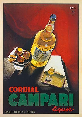Vintage Italian Posters ~ #illustrator #Italian #posters ~ Marcello Nizzoli | Cordial Campari.