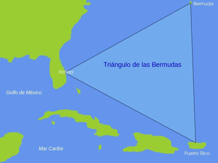 Mapa del triángulo de las Bermudas. // Bermuda Triangle ◆Bermudas - Wikipedia http://es.wikipedia.org/wiki/Bermudas #Bermuda