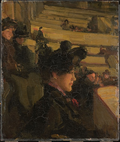Isaac Israels  (Dutch, 1865-1934) - 1922 In the Theater (Rijksmuseum, Amsterdam)