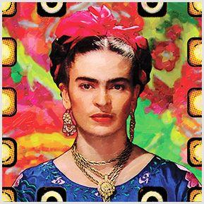 Frida Kahlo 04 - Quadrinhos confeccionados em Azulejo no tamanho 15x15 cm.Tem um ganchinho no verso para fixar na parede. Inspirados em foto da artista mexicana. Para entrar em contato conosco, acesse: www.babadocerto.c...