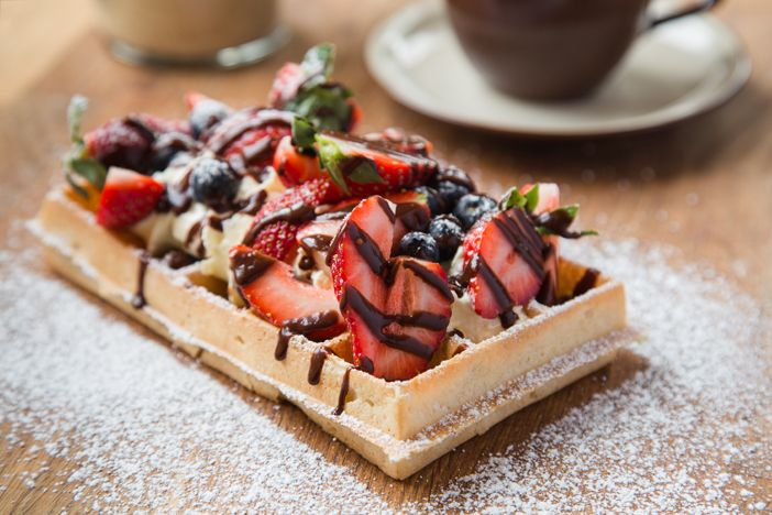 Flemish Flavours' Belgian waffles. Advertising Photography by Evangeline Aguas