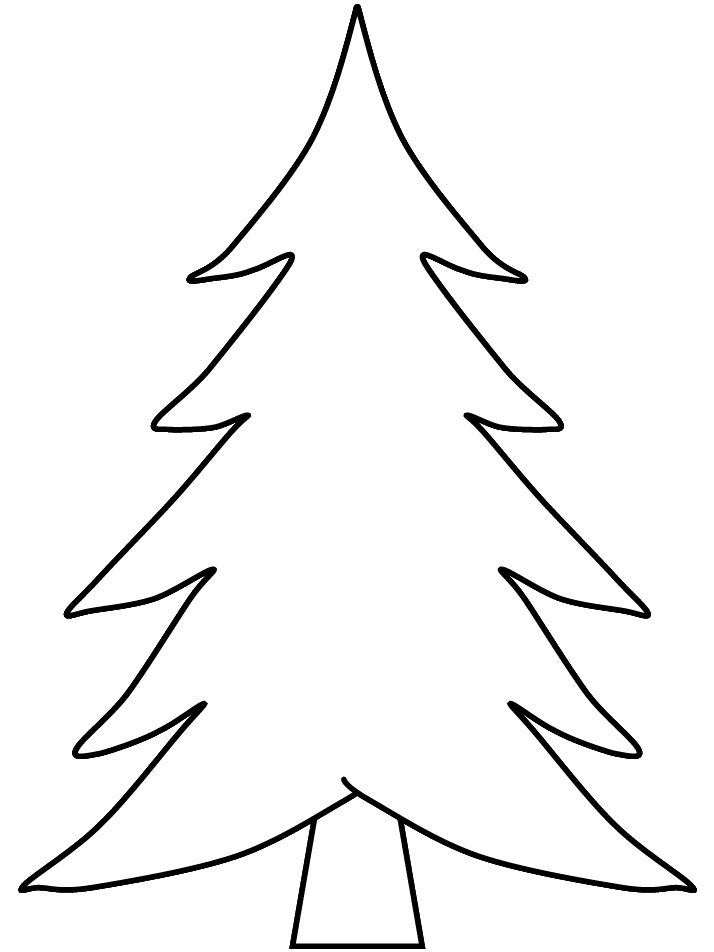 Pix For > Blank Christmas Tree Coloring | Arts and Crafts ...