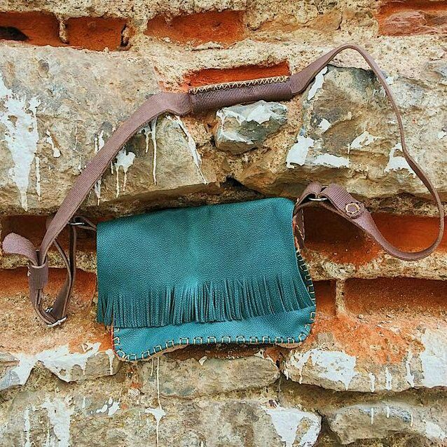 Photo of new handcrafted and original design leather strap bag | new handmade and uniq …