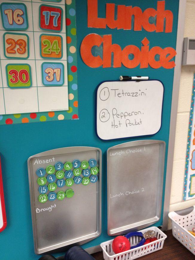 Classroom maintenance: lunch choice, jobs, felt footies