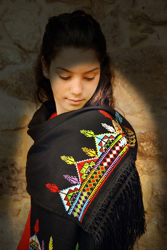 Beautiful Palestinian scarves  http://www.etsy.com/listing/74955842/multi-coloured-scarf-with-cross-stitch