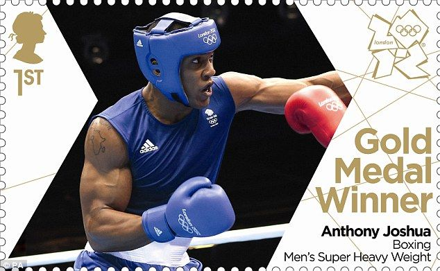 Stamped on the history books: The Royal Mail has already designed a special edition Gold Medal stamp to celebrate Anthony Joshua's Olympic Gold medal in the Men's Super Heavyweight division
