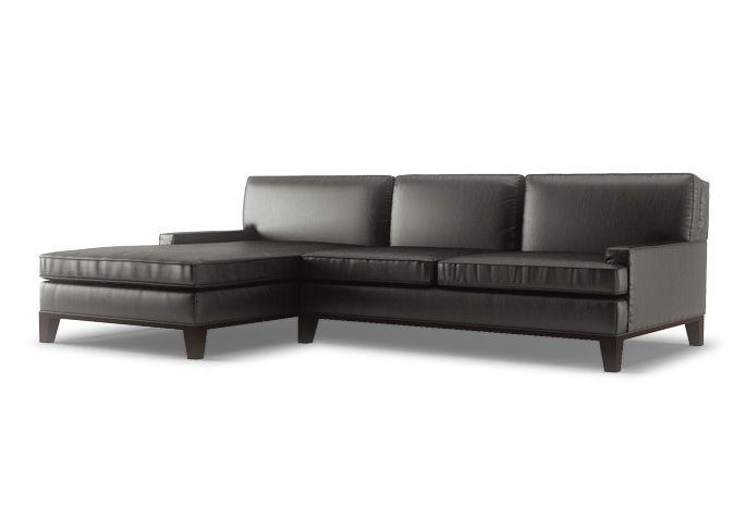 Leather Sectional Sofa Grant XL Sofa l Thrive Furniture l Handmade Midcentury Modern